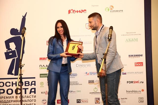 « Юниаструм Банк» стал лауреатом премии « Основа Роста-2015»
