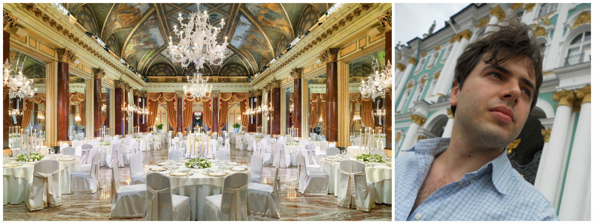 Джулио Гарджулло при помощи дронов продемонстрировал всю роскошь мотеля St. Regis Rome на Большом Русском Балу